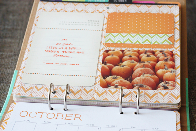 October layout in DIY Calendar Kit from Michaels at livelaughrowe.com