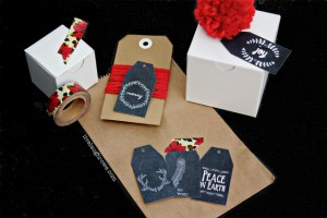 Printable Christmas Chalkboard Gift Tags