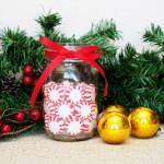 Peppermint Mason Jar Candle Holders