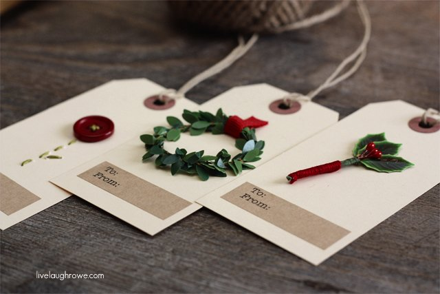 Christmas Gift Tags Handmade.Diy Christmas Gift Tags Live Laugh Rowe
