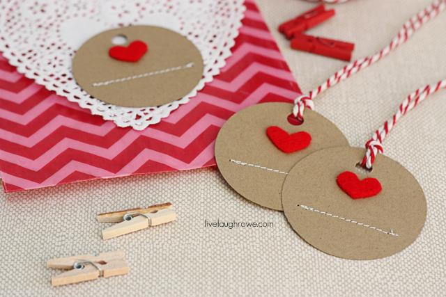 DIY Handmade Heart Tags with livelaughrowe.com