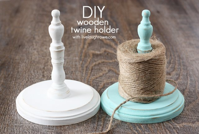 DIY Wood Twine Holders with livelaughrowe.com