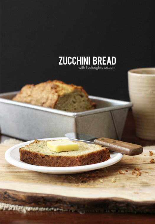 Moist and delicious Zucchini Bread with livelaughrowe.com