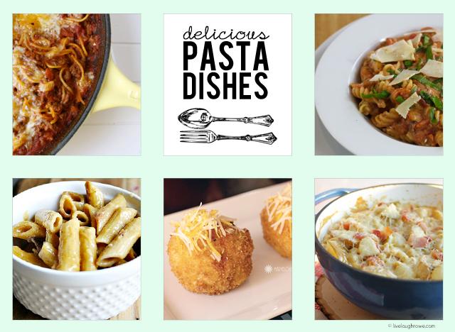 Pasta Dishes with livelaughrowe.com