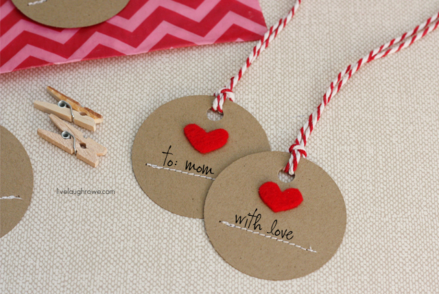Simply Sweet DIY Handmade Heart Tags with livelaughrowe.com