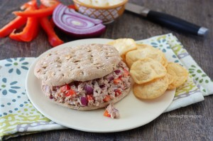 Skinny Tuna Sandwich with livelaughrowe.com #weightwatchers