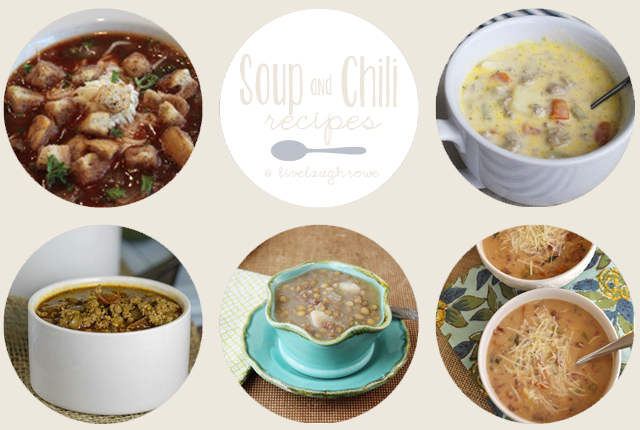 Soup and Chili Recipes with livelaughrowe.com
