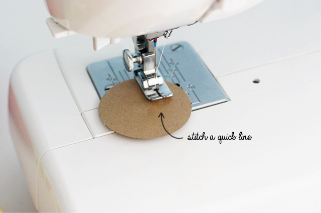 stitch a quick line using your sewing machine