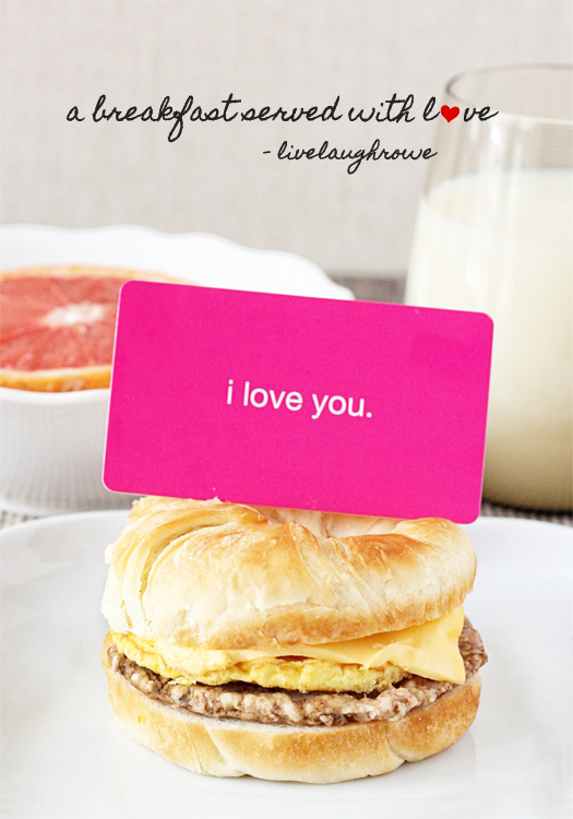 A Breakfast Served with Love at livelaughrowe.com