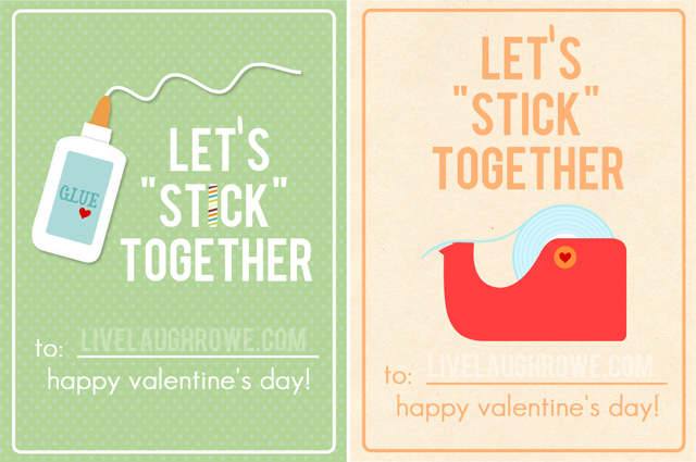 Let's Stick Together! Free Printable with livelaughrowe.com