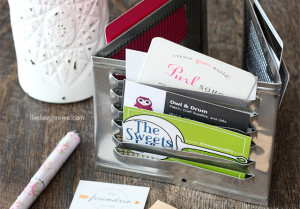 DIY Industrial Desk Organizer with livelaughrowe.com