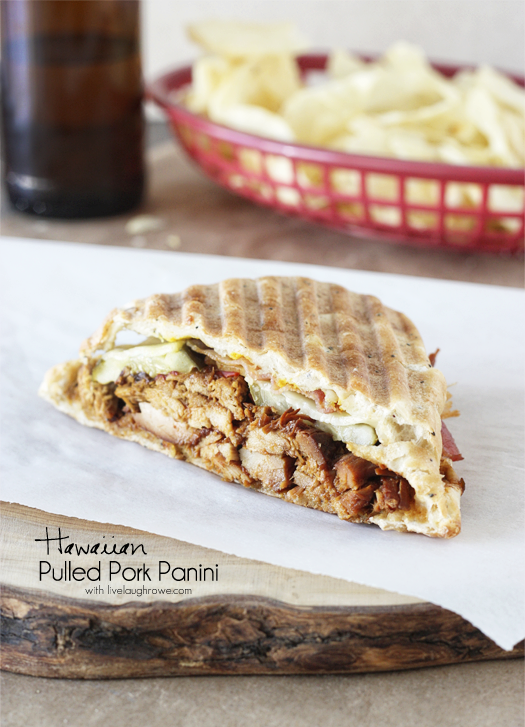 Hawaiian Pulled Pork Panini with livelaughrowe.com