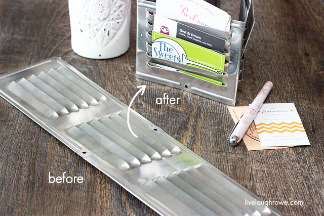 Industrial Inspired DIY Organizer with livelaughrowe.com