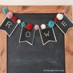 DIY Chalkboard Pennant Banner