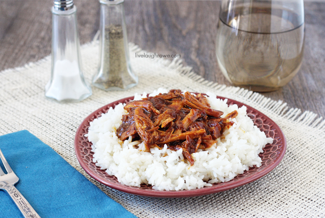 Slow Cooker Hawaiian Pulled Pork using Campbells Slowe Cooker Hawaiian Luau Sauce