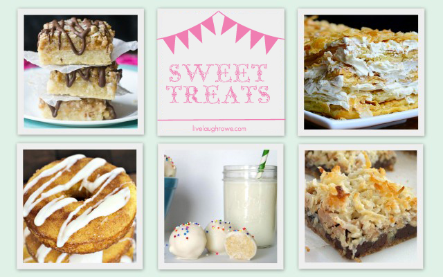 Sweet Treat features at livelaughrowe.com