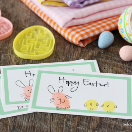 Adorable and Fun Hoppy Easter Thumbprint Printable with livelaughrowe.com