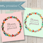 Bloom Where You're Planted Printable