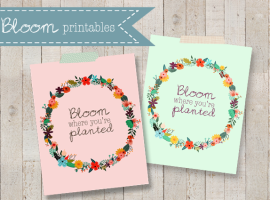 Bloom Printables with livelaughrowe.com