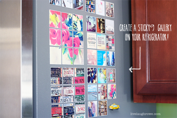 Create a Sticky9 gallery on your refrigerator