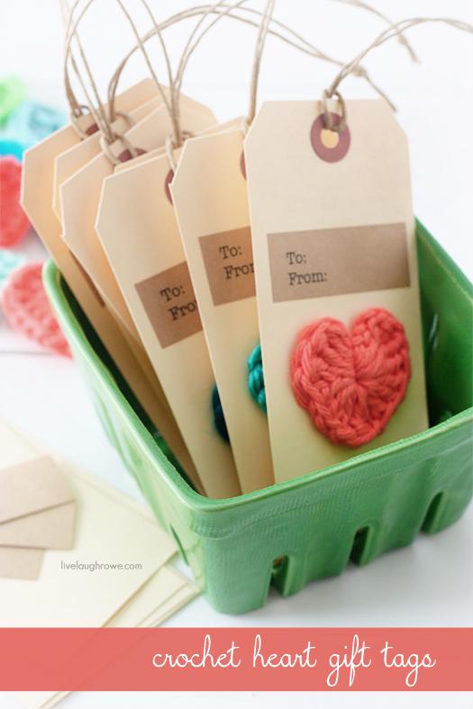 Rientro handmade valentine crochet heart gift tags - Ma petite maison com ...