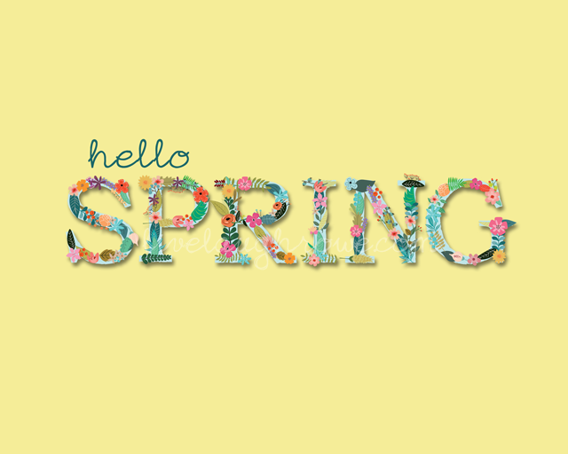 Fun and Colorful Spring Printable with livelaughrowe.com