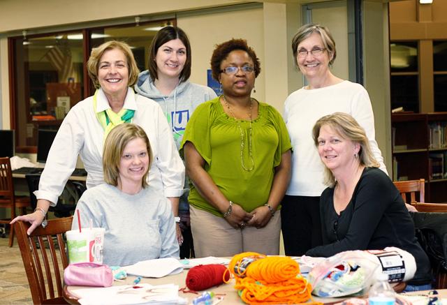 Introduction to Crochet Teacher and Classmates