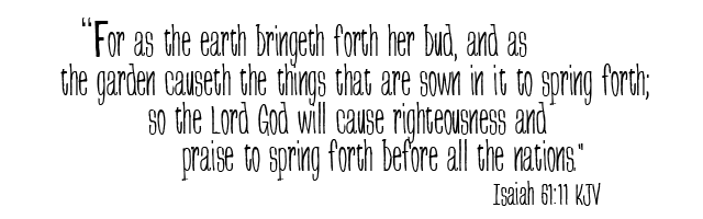 Isaiah 61 11