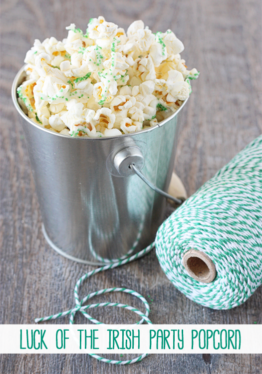 Luck of the Irish Party Popcorn with livelaughrowe.com