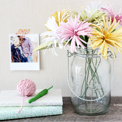Perfectly Colorful Spring Decor| Paper Spider Mums
