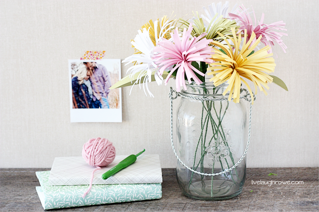Perfectly Colorful Spring Decor Paper Spider Mums