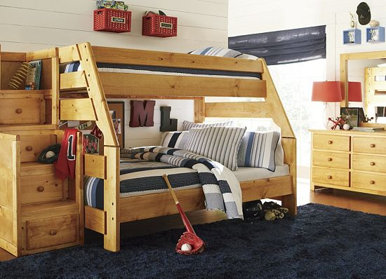 Trend This boys room is perfectly accessorized and the Timber Trail Bunk Bed is fantastic