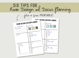 Tips for Room Design and Planning, plus a FREE printable with livelaughrowe.com