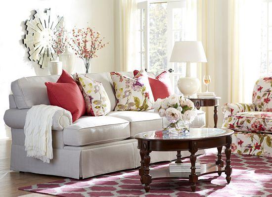 Nice Isn ut that area rug beautiful I love the geometric print with the florals too Veranda Loveseat