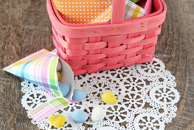 Adorable Easter Treat Holders made with paper at livelaughrowe.com
