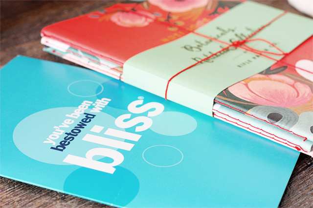 Bliss Gift Card and Botanical Notebooks
