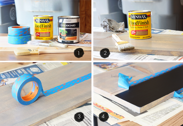 DIY Chalkboard Serving Tray Instructions