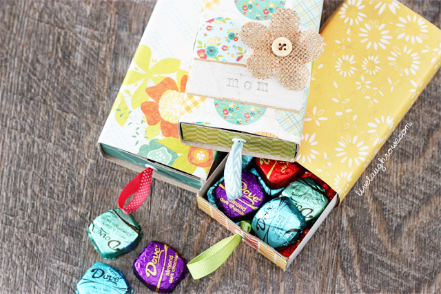 DIY Handmade box filled with chocolates makes for a perfectly sweet Mothers Day gift!