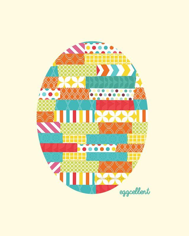 Easter Silhouette Printable Egg.