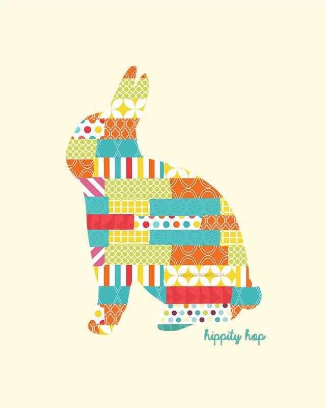 Easter Silhouette Printable Rabbit