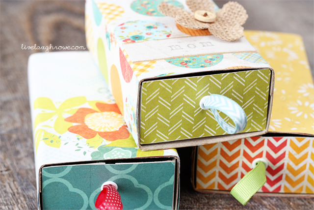 Fun DIY! Make your own gift box with a large match box -- and fill with Dove Dark Chocolates