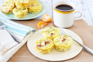 Mini Bacon and Broccoli Frittatas.  Savory bites and Weight Watchers friendly