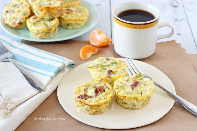 Mini Bacon and Broccoli Frittatas.  Savory bites and Weight Watchers friendly. Recipe at Live Laugh Rowe