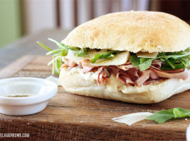 Mouthwatering Ham and Arugula Sandwich.