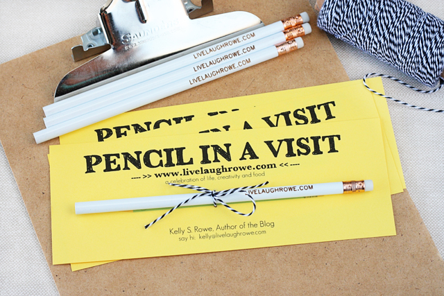 Clever Marketing.  Pencil in a Visit.