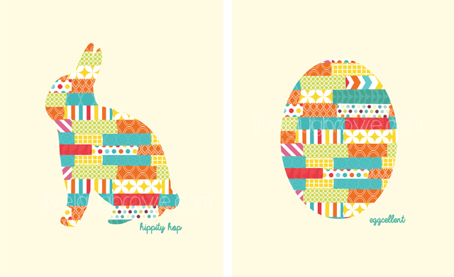 Rabbit and Egg Easter Silhouette Printables with livelaughrowe.com