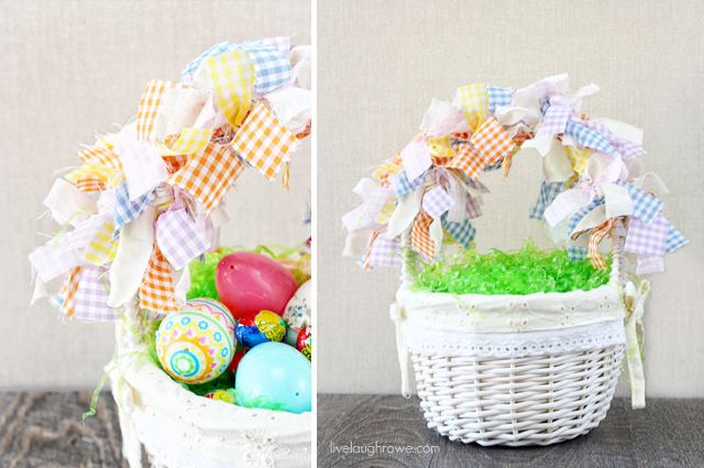 Scrap Fabric Easter Garland Baskets