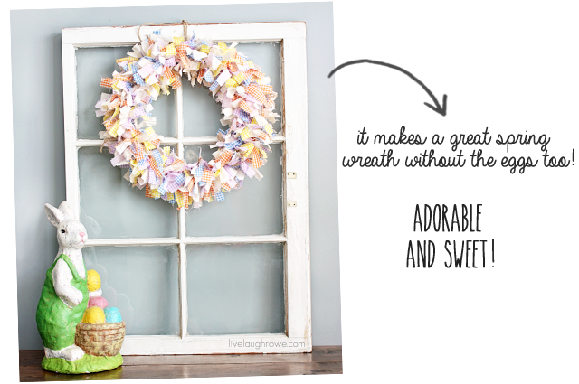 Scrap Fabric Spring Wreath with livelaughrowe.com