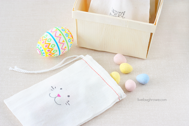 Simple Muslin Easter Treat Bags with livelaughrowe.com