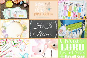 Spring and Easter Paper Crafts |live laugh linky #107
